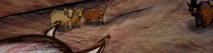 As aventuras de uma manada de vacas que vivem em liberdade…